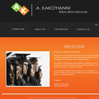 AK Education services website project